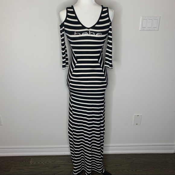 Striped Bebe maxi dress